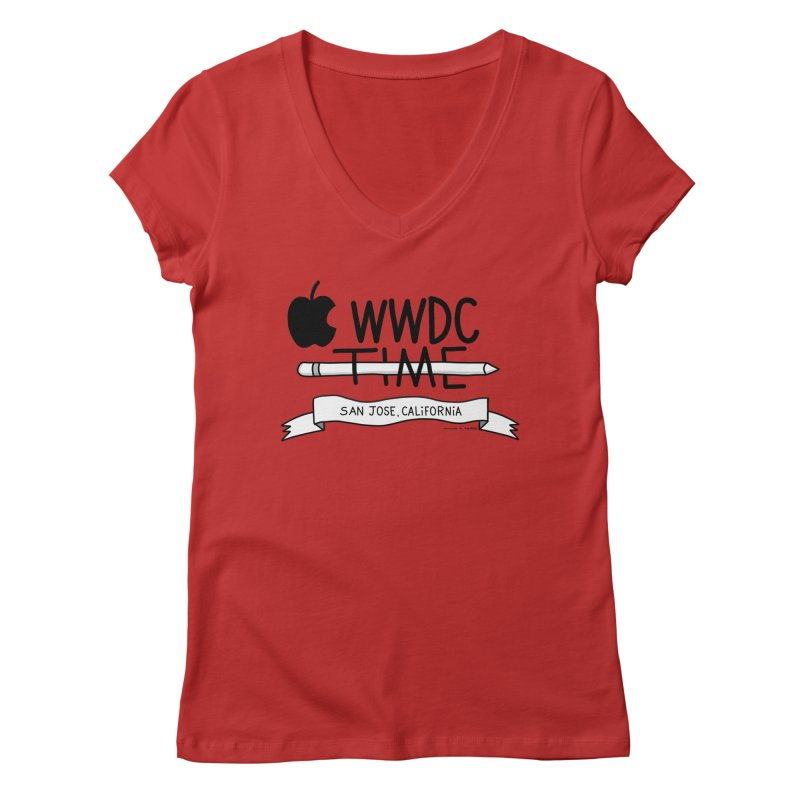 WWDC Time Women's Regular V-Neck by