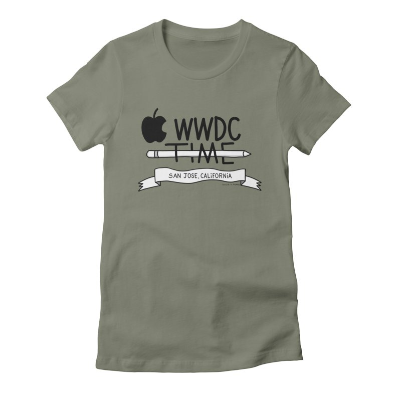 WWDC Time Women's Fitted T-Shirt by