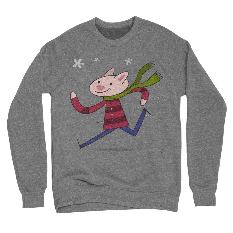 Winter Sphynx Men's Sponge Fleece Sweatshirt by