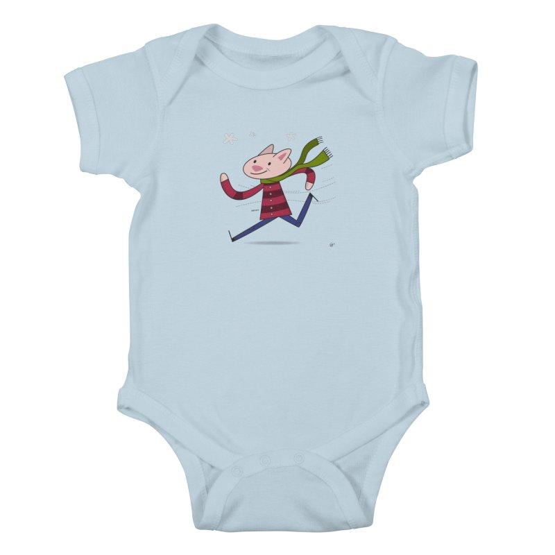 Winter Sphynx Kids Baby Bodysuit by