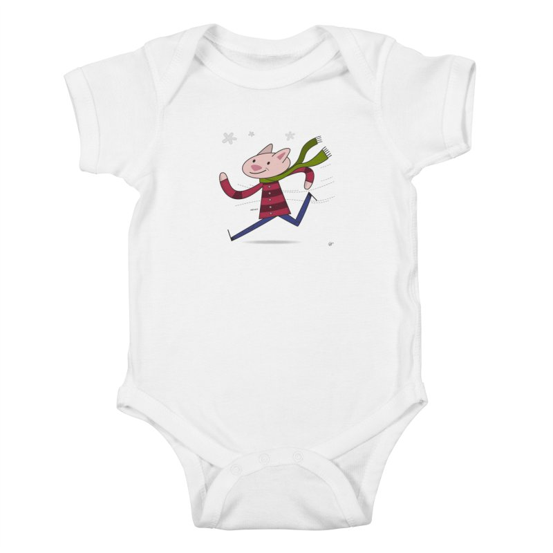 Winter Sphynx Kids Baby Bodysuit by