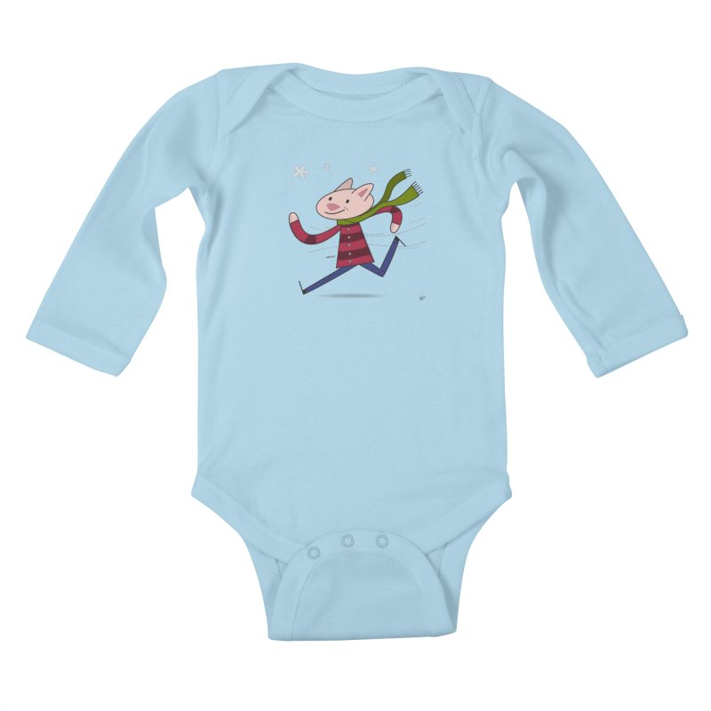 Winter Sphynx Kids Baby Longsleeve Bodysuit by