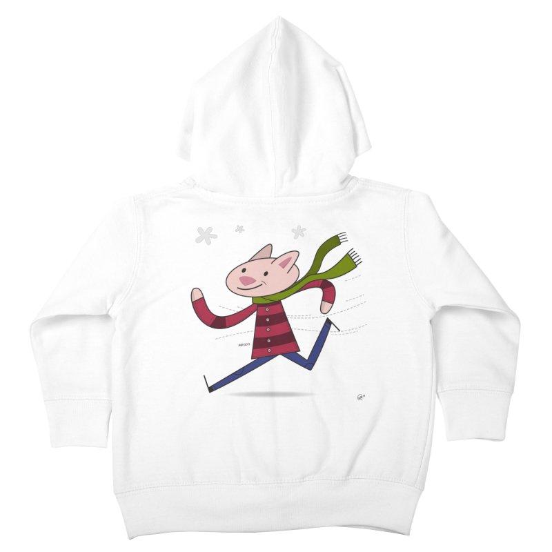 Winter Sphynx Kids Toddler Zip-Up Hoody by