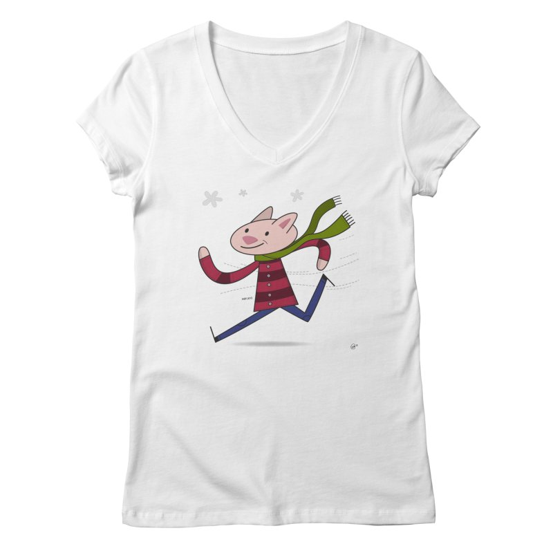 Winter Sphynx Women's Regular V-Neck by