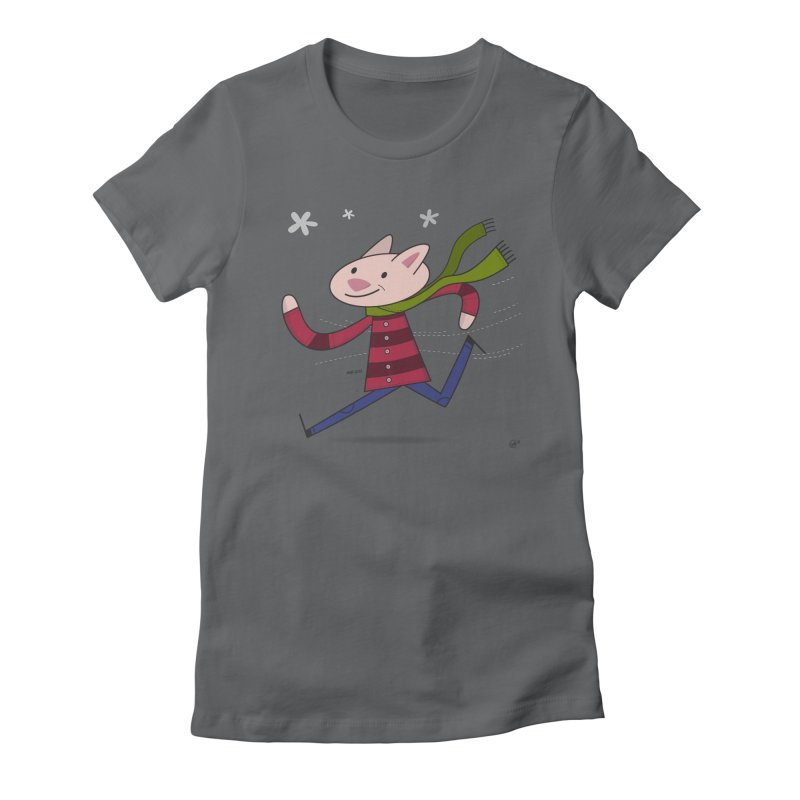 Winter Sphynx Women's Fitted T-Shirt by