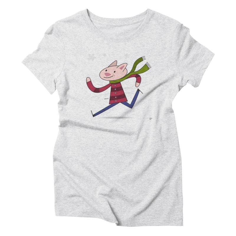 Winter Sphynx Women's Triblend T-Shirt by