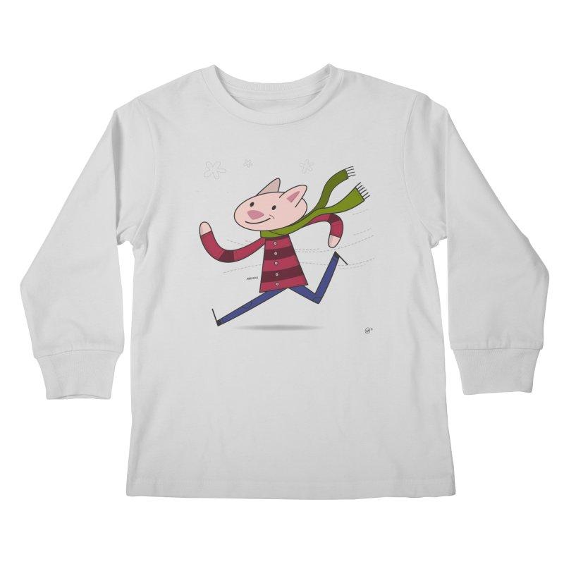 Winter Sphynx Kids Longsleeve T-Shirt by