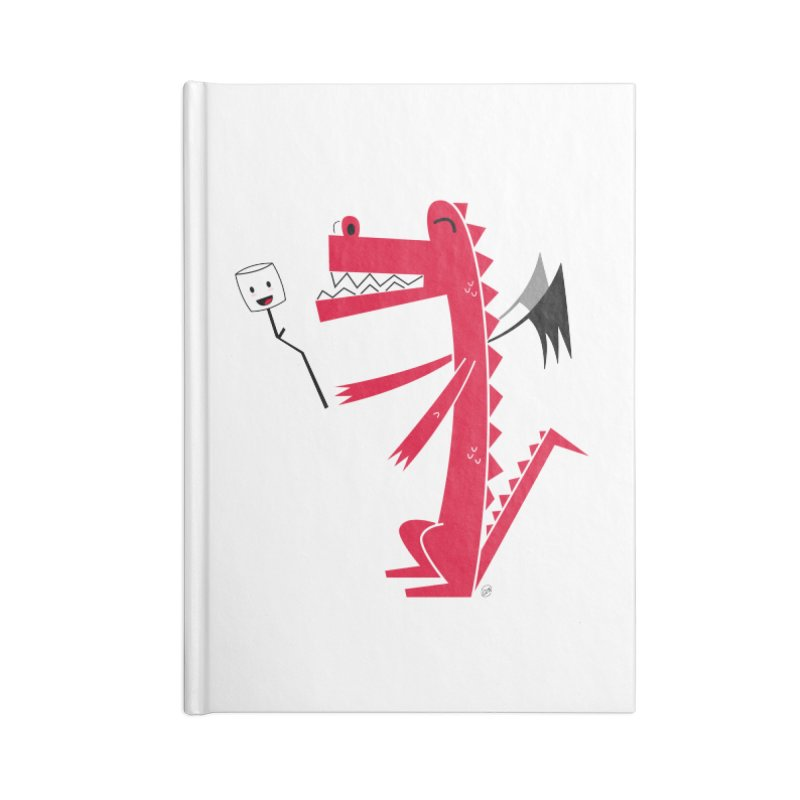 Happy Dragon with a marshmallow Accessories Blank Journal Notebook by
