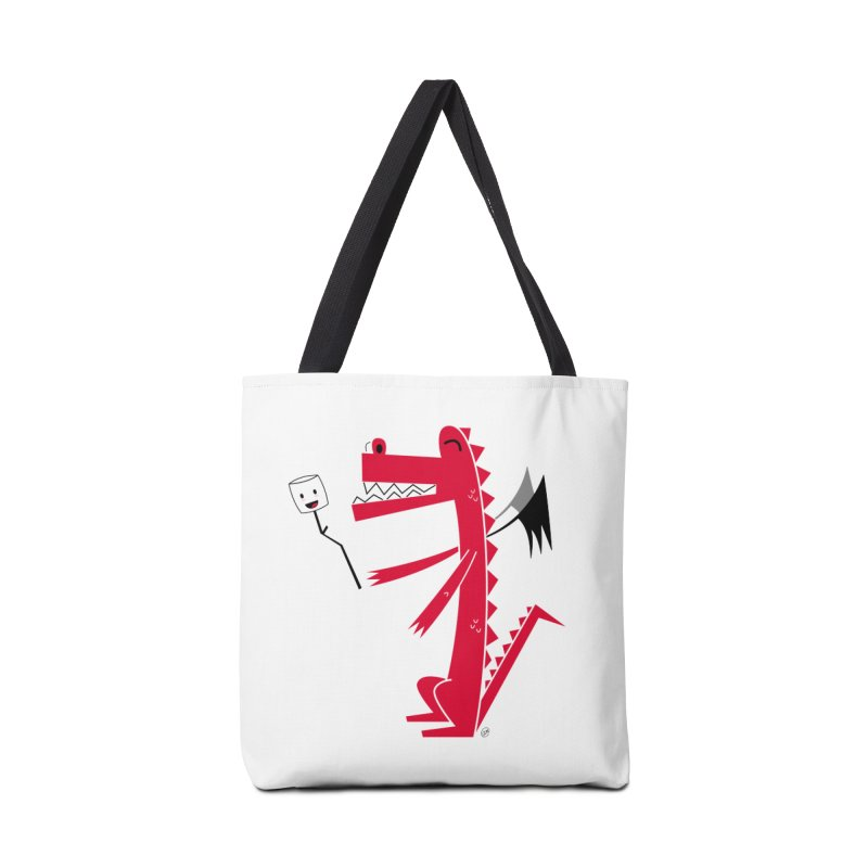 Happy Dragon with a marshmallow Accessories Tote Bag Bag by