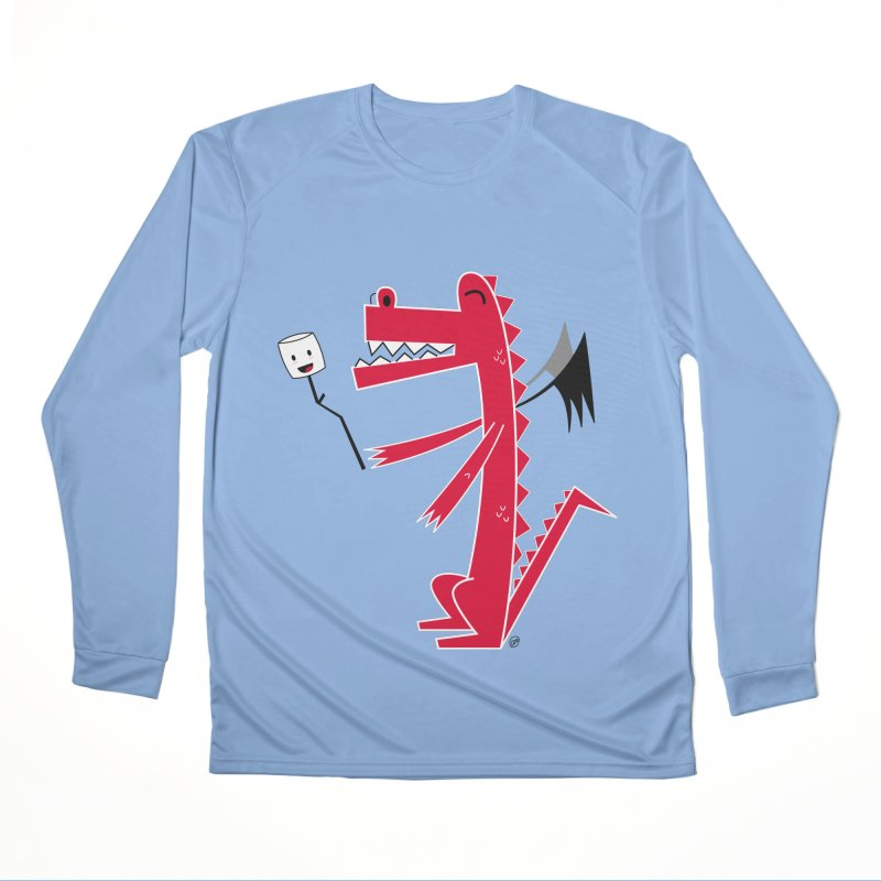 Happy Dragon with a marshmallow Men's Performance Longsleeve T-Shirt by
