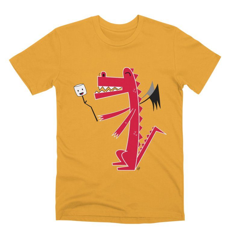Happy Dragon with a marshmallow Men's Premium T-Shirt by