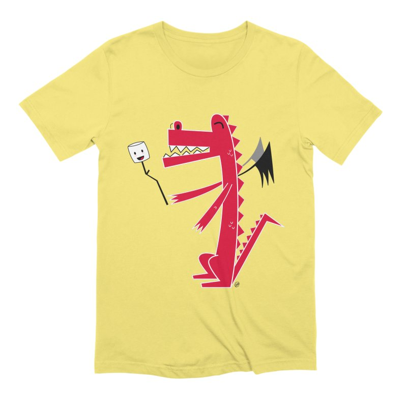 Happy Dragon with a marshmallow Men's Extra Soft T-Shirt by