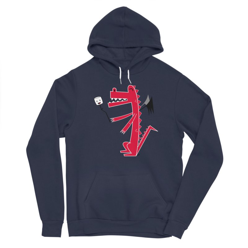 Happy Dragon with a marshmallow Men's Sponge Fleece Pullover Hoody by