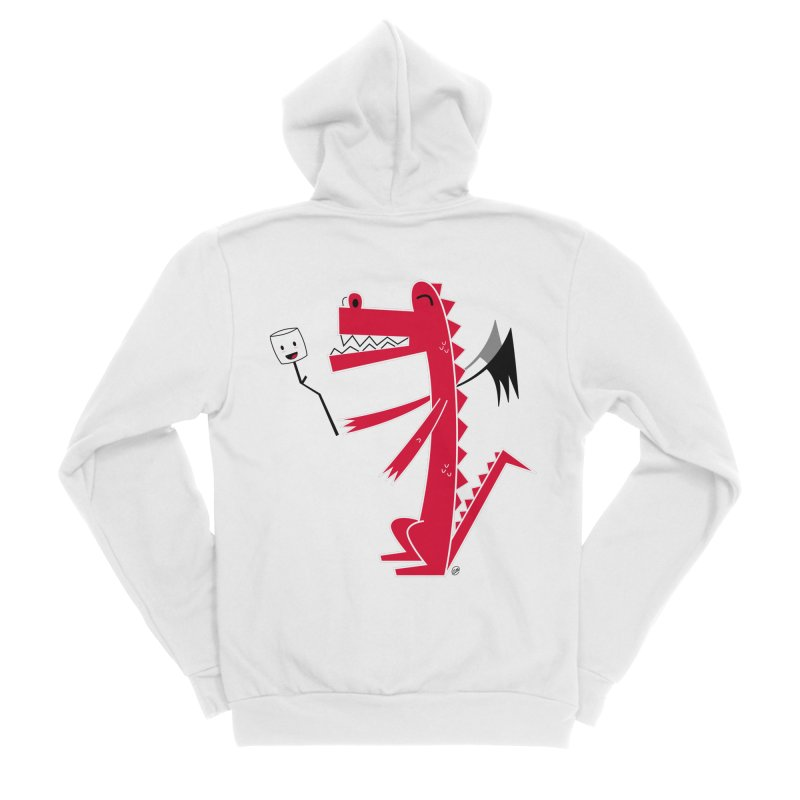 Happy Dragon with a marshmallow Men's Zip-Up Hoody by