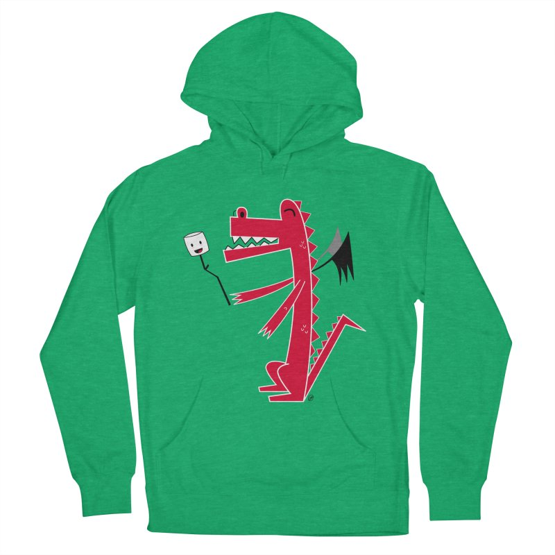 Happy Dragon with a marshmallow Women's French Terry Pullover Hoody by
