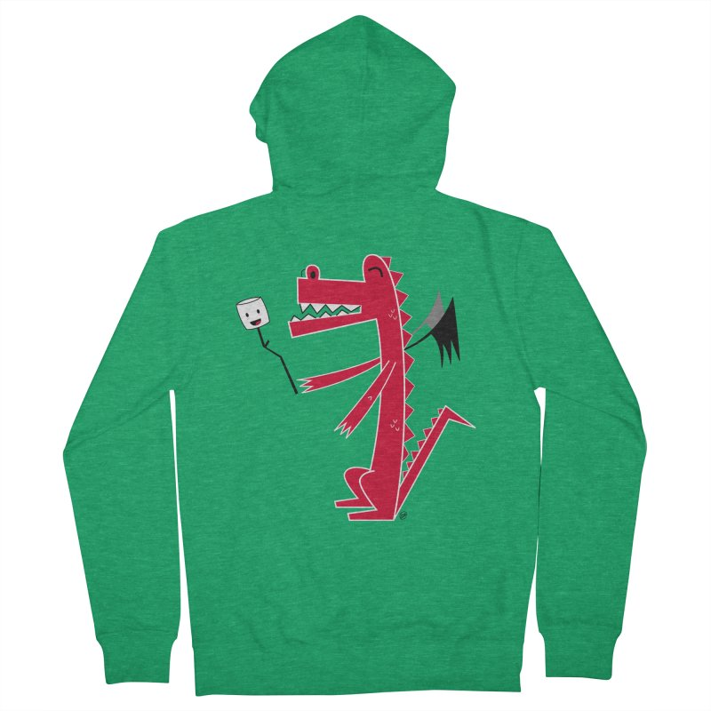 Happy Dragon with a marshmallow Women's Zip-Up Hoody by