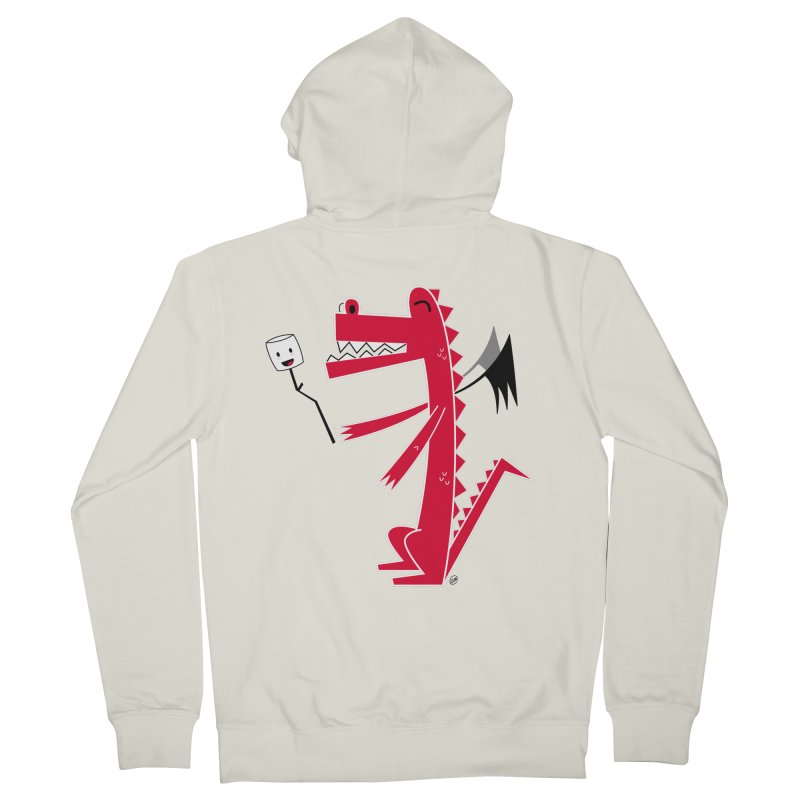 Happy Dragon with a marshmallow Women's French Terry Zip-Up Hoody by