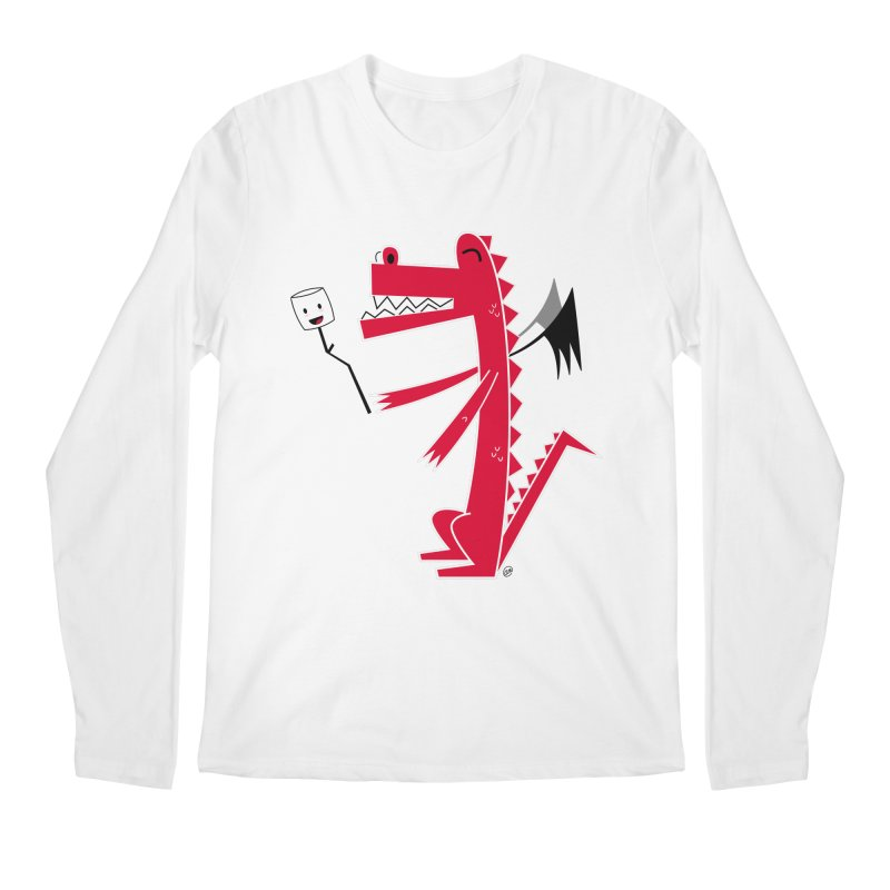 Happy Dragon with a marshmallow Men's Regular Longsleeve T-Shirt by