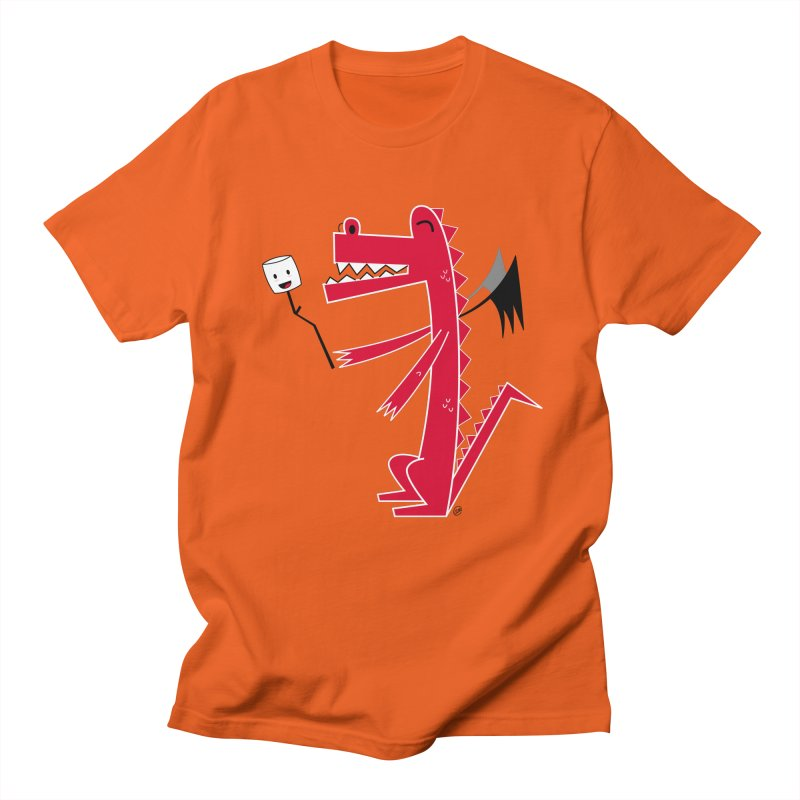 Happy Dragon with a marshmallow Men's Regular T-Shirt by