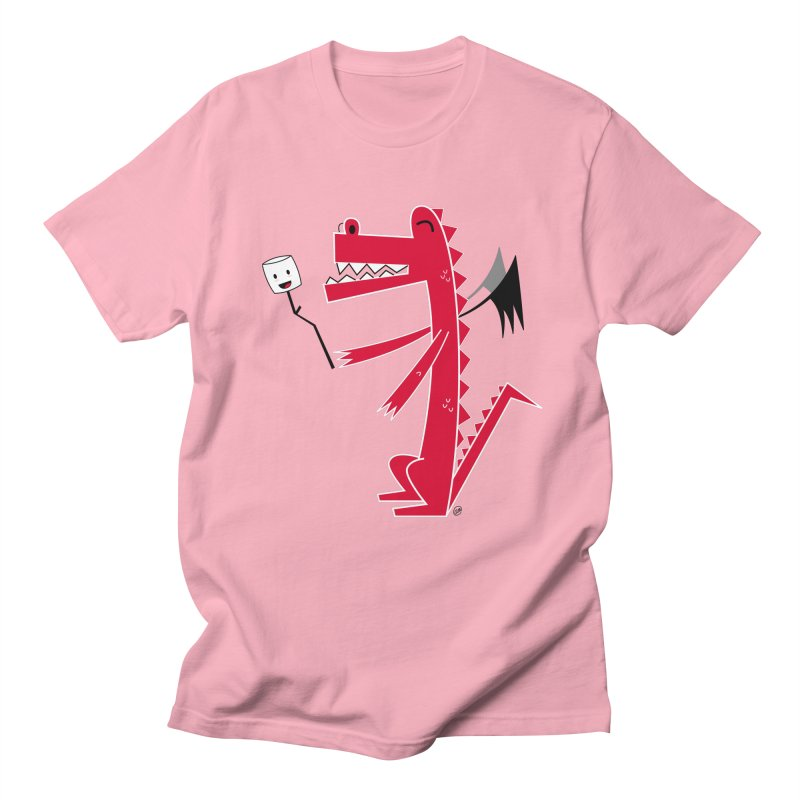 Happy Dragon with a marshmallow Men's T-Shirt by