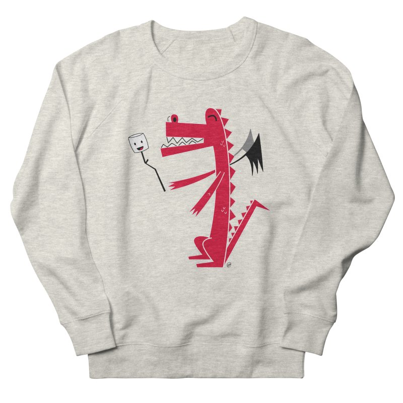 Happy Dragon with a marshmallow Men's French Terry Sweatshirt by