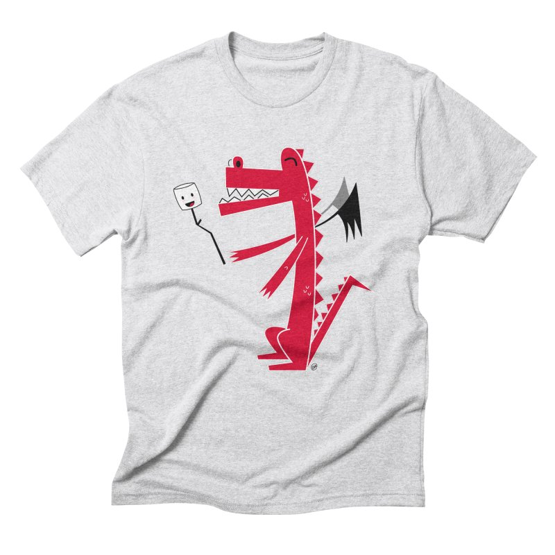 Happy Dragon with a marshmallow Men's Triblend T-Shirt by