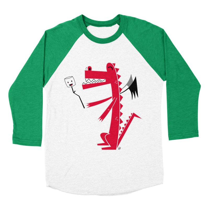 Happy Dragon with a marshmallow Men's Longsleeve T-Shirt by