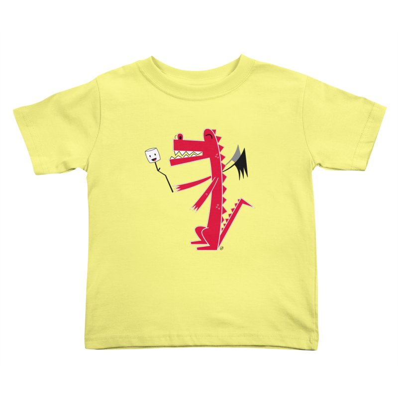 Happy Dragon with a marshmallow Kids Toddler T-Shirt by