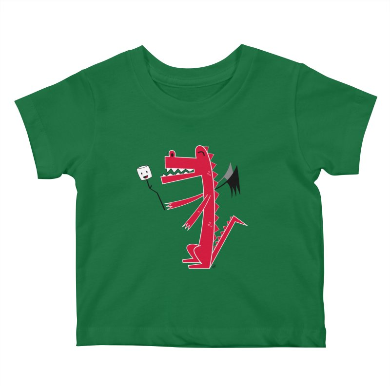 Happy Dragon with a marshmallow Kids Baby T-Shirt by