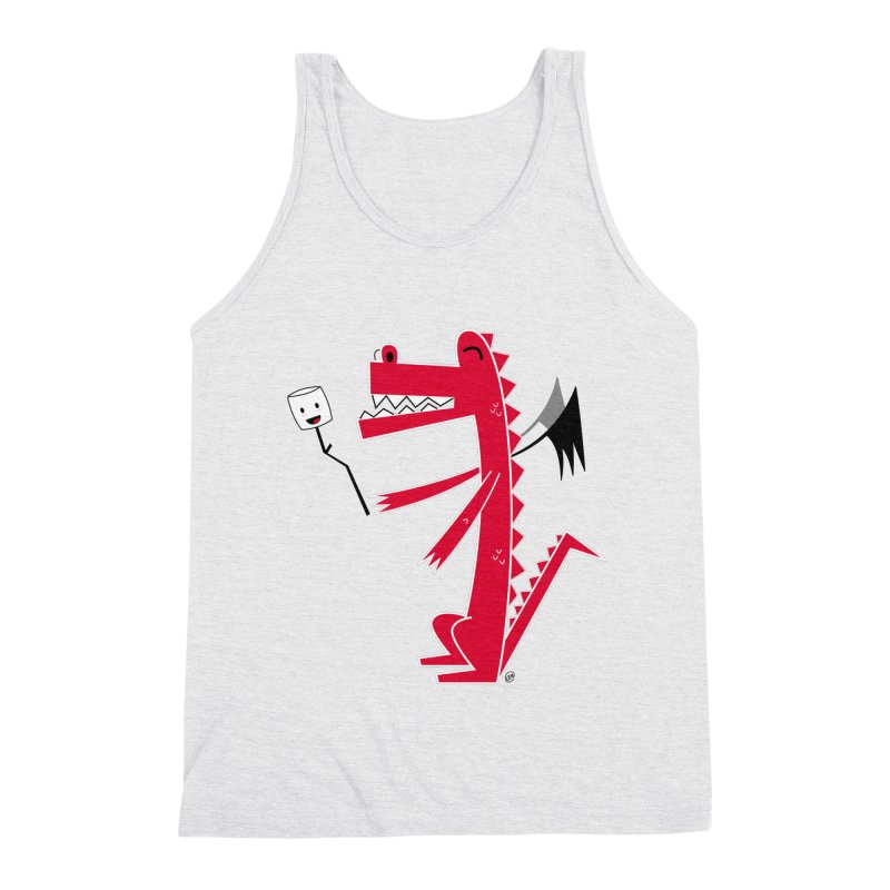 Happy Dragon with a marshmallow Men's Triblend Tank by