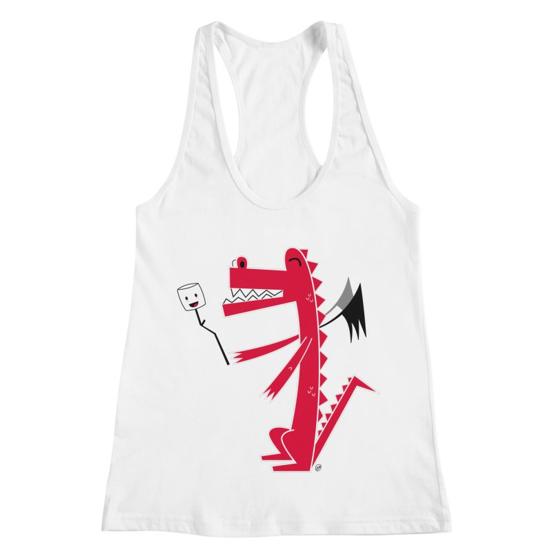 Happy Dragon with a marshmallow Women's Racerback Tank by