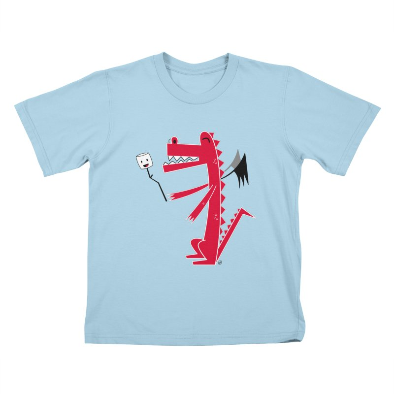 Happy Dragon with a marshmallow Kids T-Shirt by