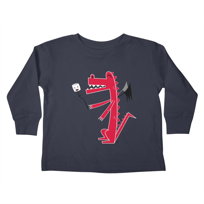 Happy Dragon with a marshmallow Kids Toddler Longsleeve T-Shirt by