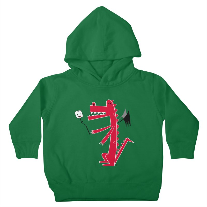 Happy Dragon with a marshmallow Kids Toddler Pullover Hoody by
