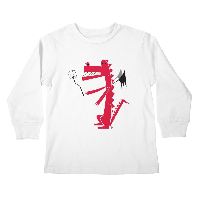 Happy Dragon with a marshmallow Kids Longsleeve T-Shirt by