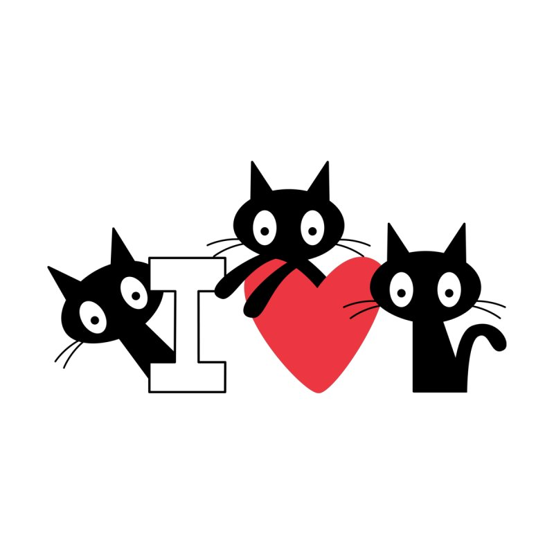 Love Cats Accessories Greeting Card by