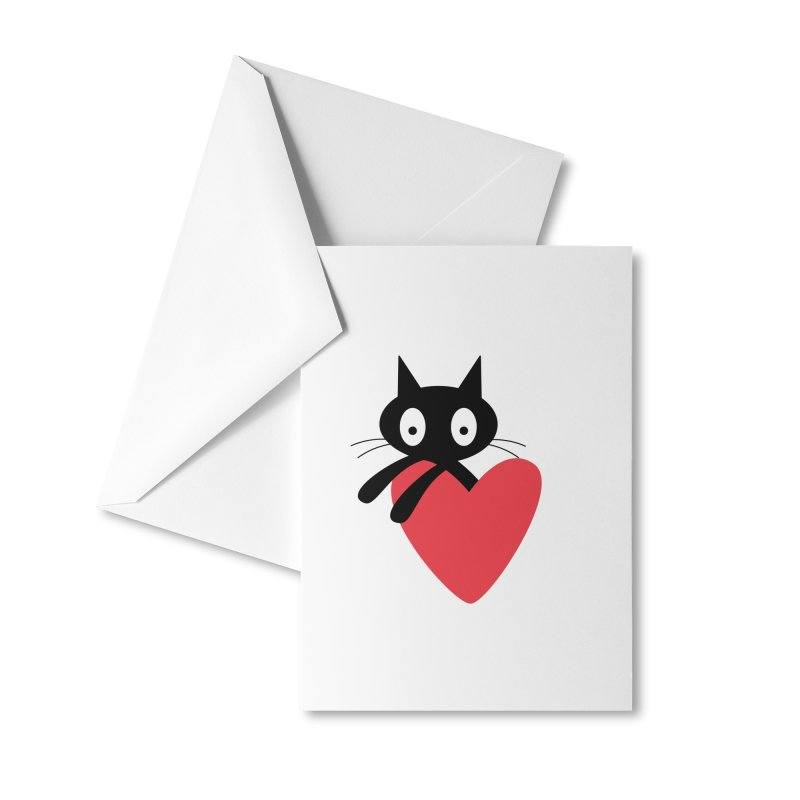 Love Cat Accessories Greeting Card by