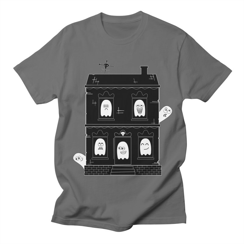 Spooky Cute Ghost Haunted House Men's T-Shirt by