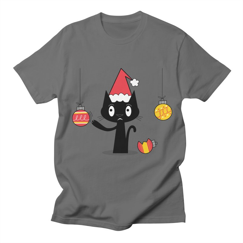 Naughty Holiday Cat Men's T-Shirt by