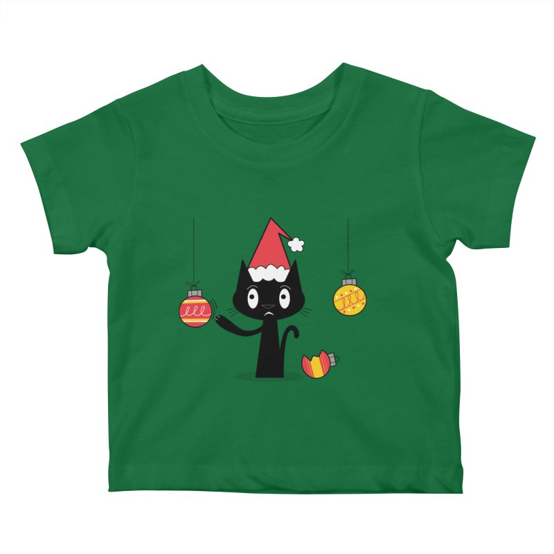 Naughty Holiday Cat Kids Baby T-Shirt by