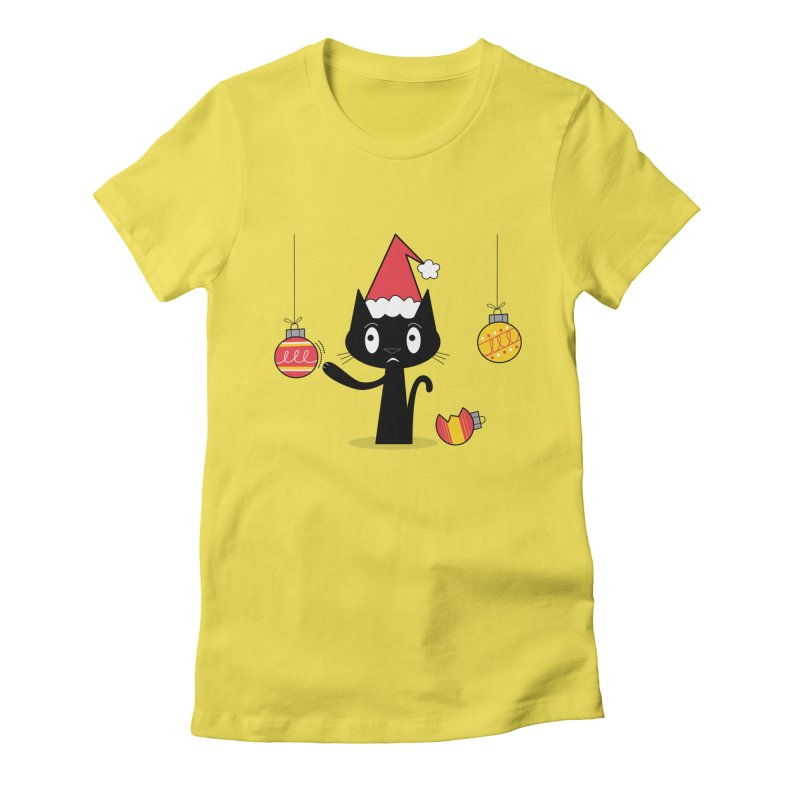 Naughty Holiday Cat Women's T-Shirt by