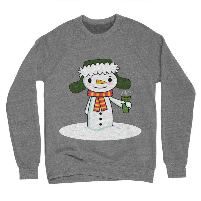 Happy Snowman with Coffee Women's Sweatshirt by