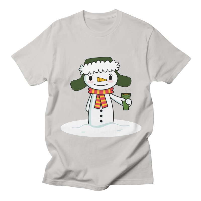 Happy Snowman with Coffee Men's T-Shirt by