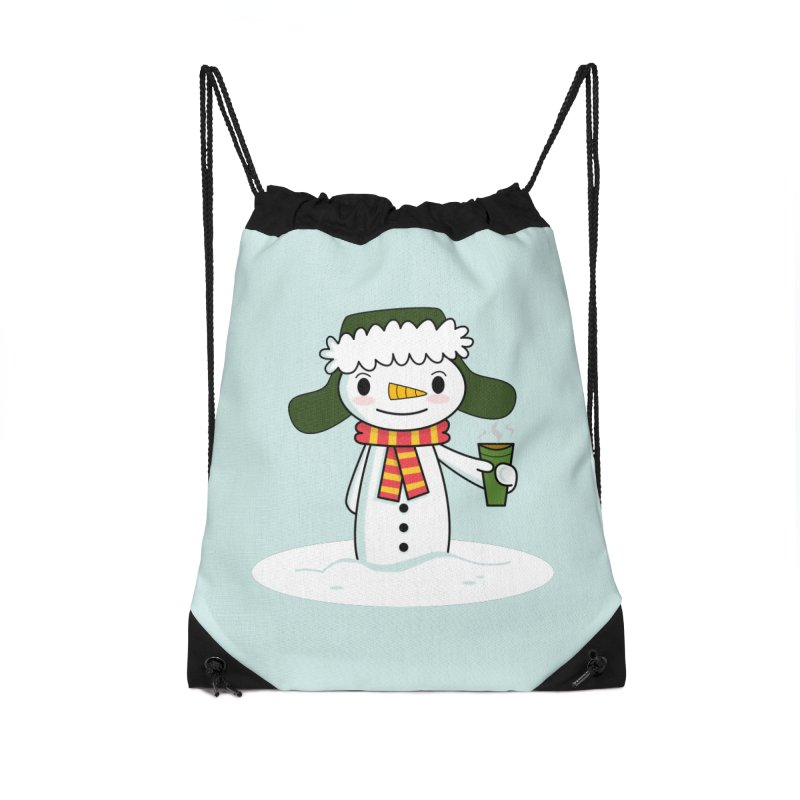 Happy Snowman with Coffee Accessories Bag by