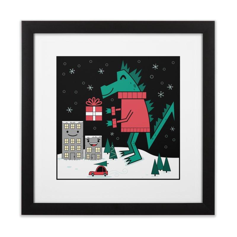 Kaiju Christmas Home Framed Fine Art Print by
