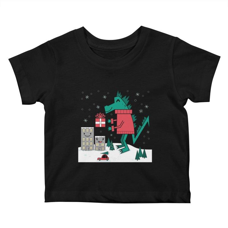Kaiju Christmas Kids Baby T-Shirt by