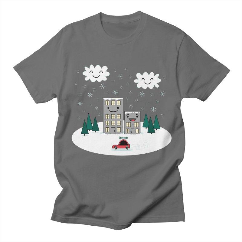 Kawaii Winter Town Men's T-Shirt by