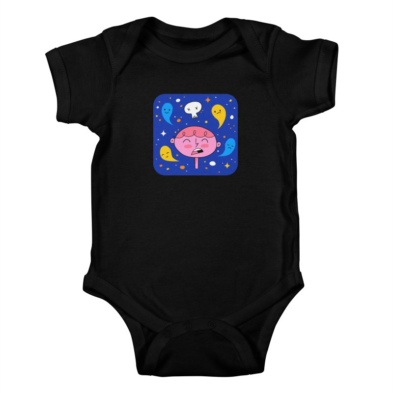 Thought Ghosts Kids Baby Bodysuit by
