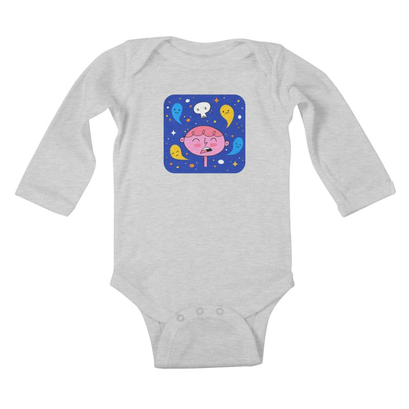 Thought Ghosts Kids Baby Longsleeve Bodysuit by
