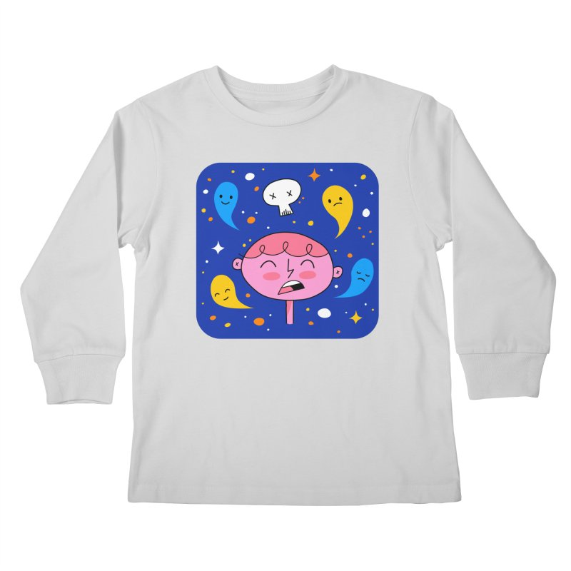 Thought Ghosts Kids Longsleeve T-Shirt by